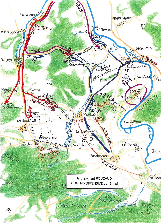 Contre attaque du 15 mai, secteur de Beaumont
