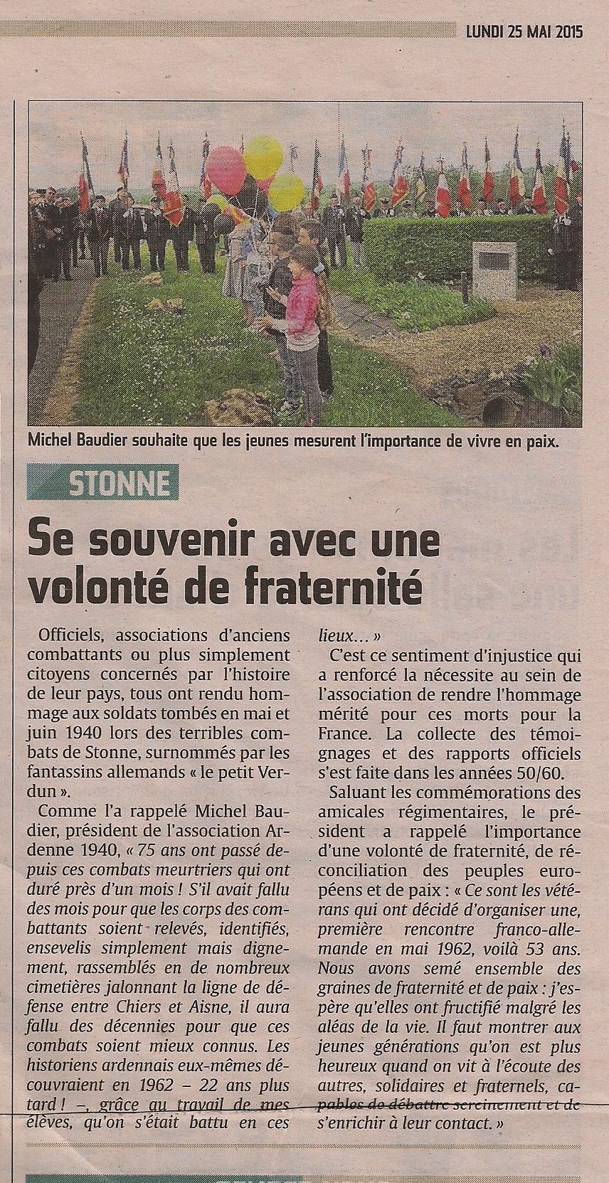 Journée de Mémoire 2015 - article