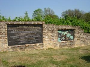 Le mur explicatif de Stonne
