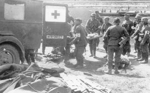 Blessés allemands transportés