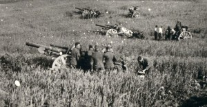 Batteries ennemies près de la ferme d'Haymoy