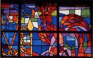 Vitraux de Calka de l'église de Stonne